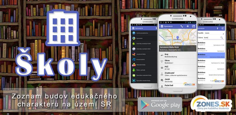 Školy - Mobilná aplikácia pre Android